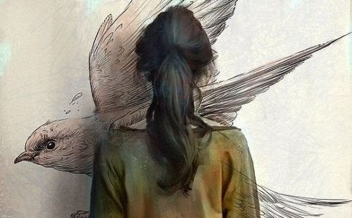 femme-dessin-oiseau-500x309