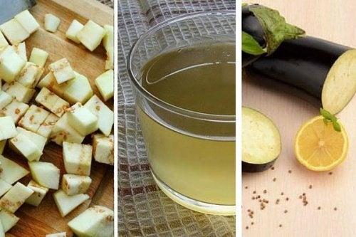L'eau à l'aubergine et au citron pour réduire le cholestérol