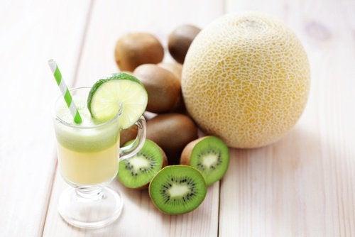 jus de kiwi et melon