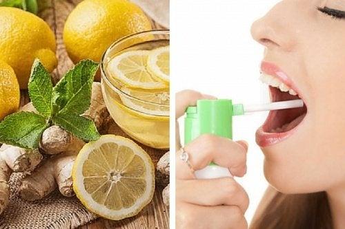 Préparez un spray naturel contre les maux de gorge