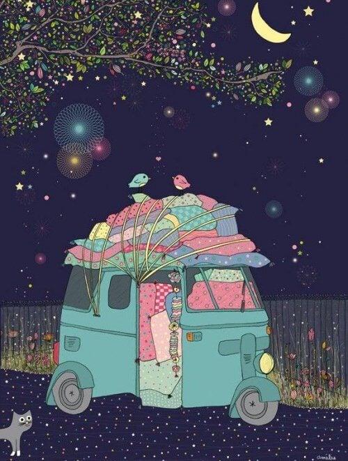 caravane de couleurs-dans-la-nuit-faire-ce-que-vous-aimez-500x661