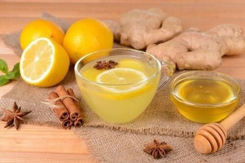 Remède au citron, cannelle et gingembre