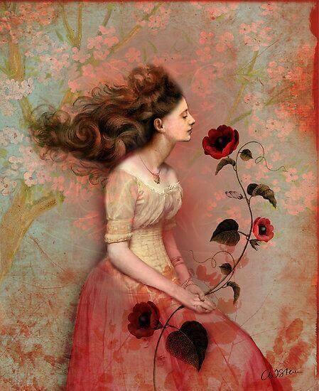 Femme-avec-une-rose-dans-la-main-bonheur