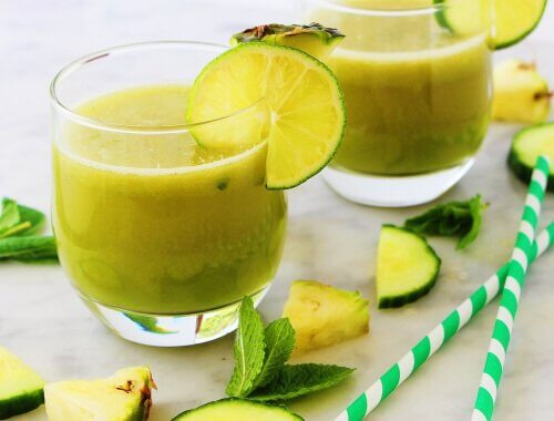 Smoothies aux fruits : l'ananas.
