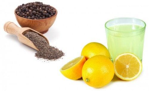 boisson citron et poivre noir