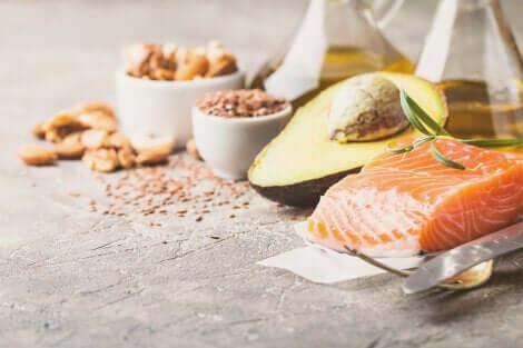 Aliments contenant des bonnes graisses.