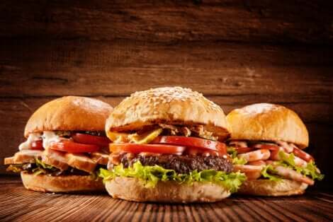 3 hamburgers.