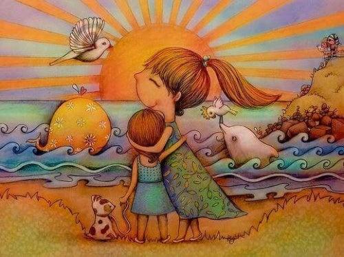 Montrer son amour à ses enfants