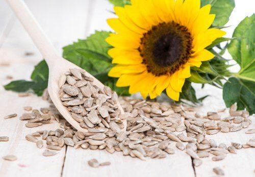 Habitudes pour lutter contre la cellulite: Graines de tournesol