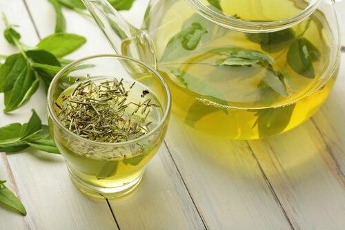 Thé vert contre la chute des cils.