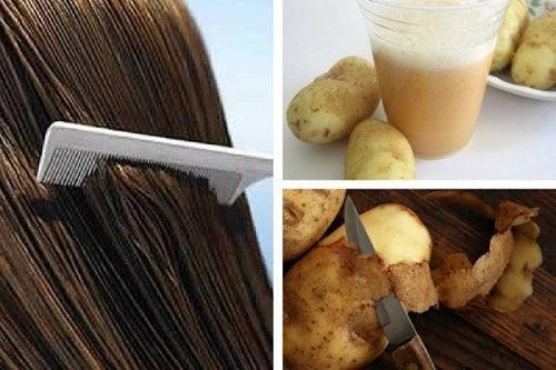 Comment utiliser le jus de pommes de terre pour faire pousser les cheveux ?