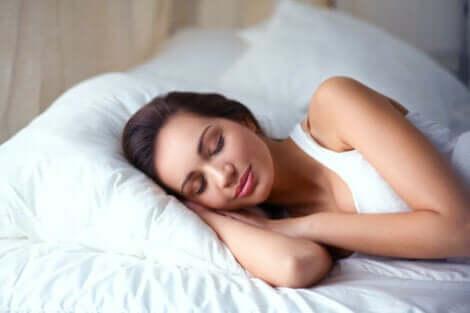 Femme en train de dormir