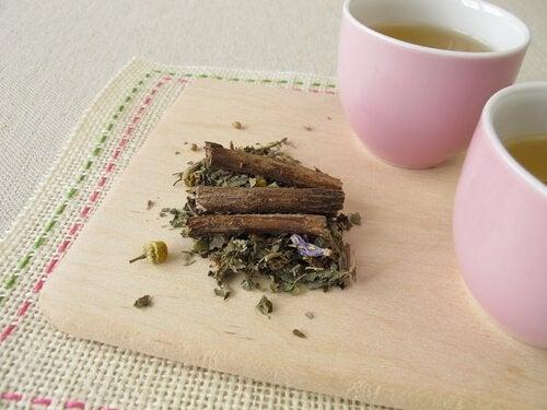 Préparation du thé anti-inflammatoire