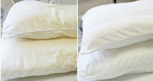 Vos oreillers ont pris un teint jaunâtre ? Voici une astuce toute simple !