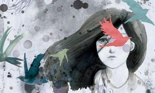 Illustration de femme qui a peur