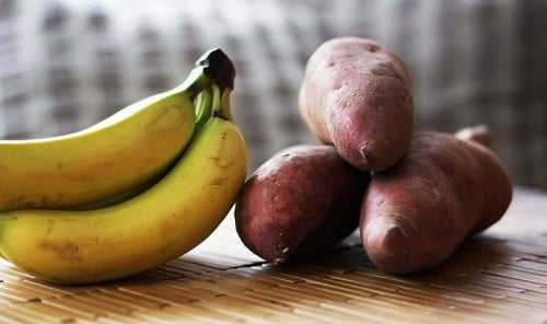 jus de banane et pomme de terre