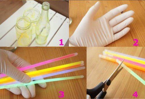 Comment faire un flacon lumineux avec des bâtons
