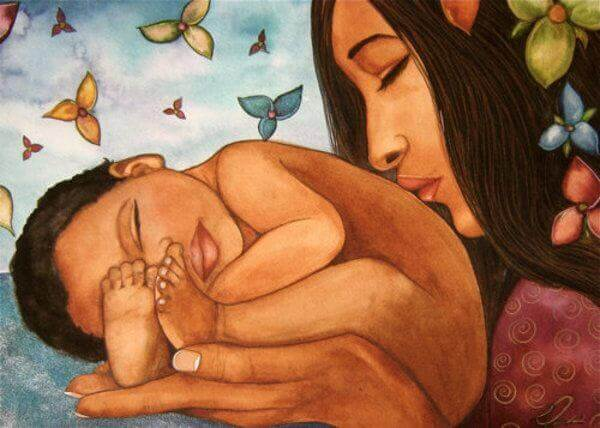 Union mère bébé et yoga.