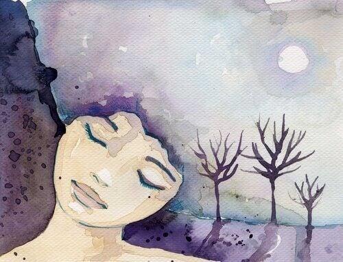 une femme et ses pensées