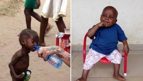 L'incroyable transformation de Hope, l'enfant nigérian abandonné que l'on prenait pour un sorcier