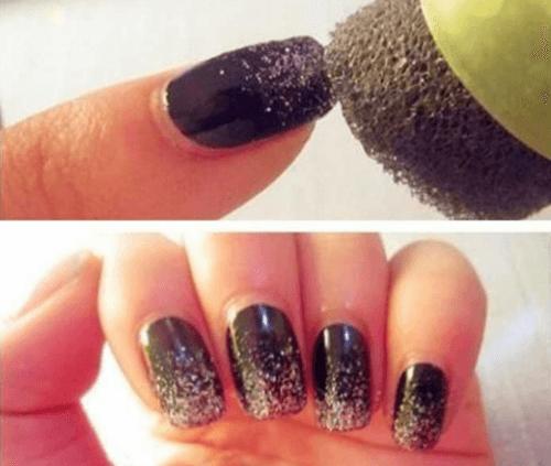 Embellissez vos ongles avec des paillettes.