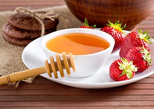 Des sirops à la fraise.
