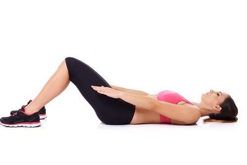 Exercice du dos contre la sciatique.