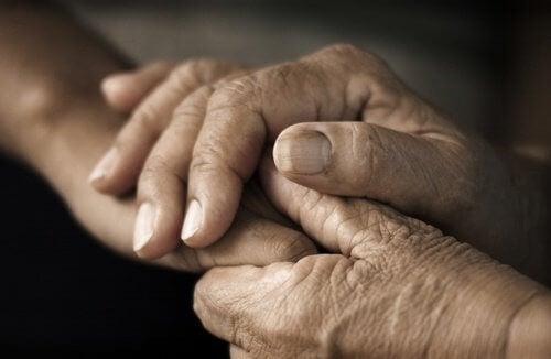 Les mains pour éliminer le stress.