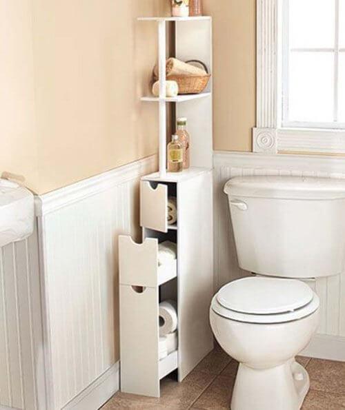 meubles de salles de bain étroits
