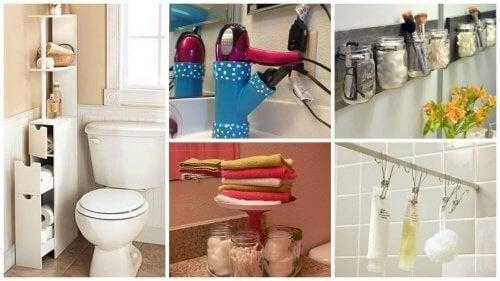 19 astuces pour gagner de l'espace dans les salles de bain