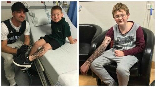 Un homme réalise des tatouages temporaires pour redonner de la force aux enfants malades