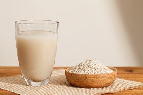 Le riz au lait au lait de riz.