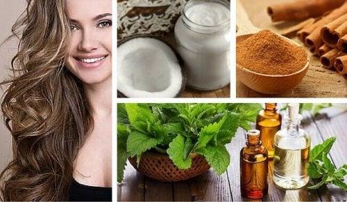 Remède à la noix de coco, à la menthe et à la cannelle pour régénérer les cheveux