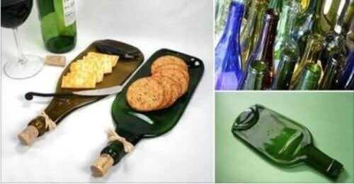 Transformer une bouteille en verre en planche pour l'apéritif