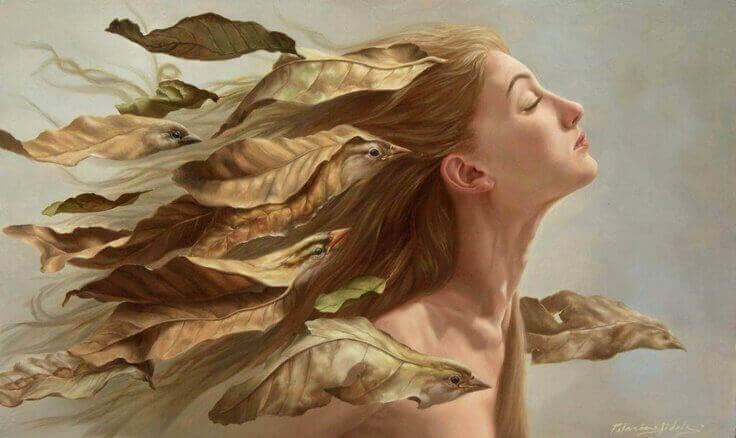 femme-oiseaux-cheveux