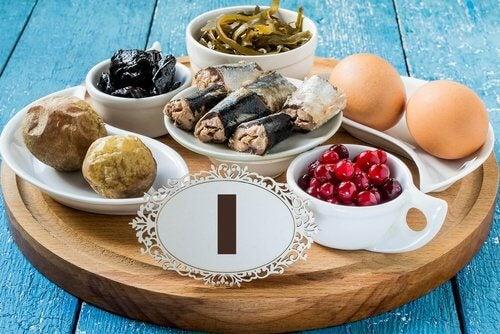 Des aliments riches en iode contre l'hypothyroïdie.