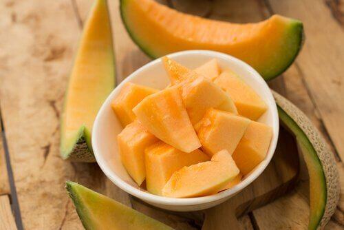 Un smoothie  pour perdre du poids au melon