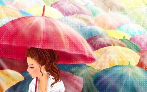 Pour les jours nuageux, parapluies de couleurs