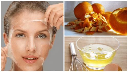 Traitement au blanc d´œuf et à la peau d'orange pour tonifier la peau
