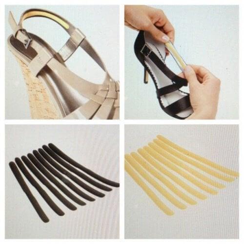 Coussinets pour les chaussures.