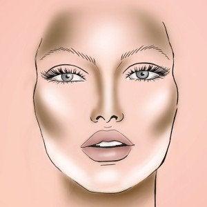 Le maquillage vous permettra d'affiner votre visage.
