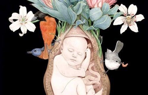 Bebe-uterus-profitant-de-l'intelligence-emotionnelle-500x322