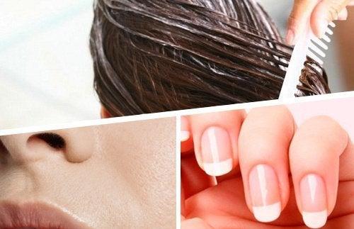 Soins naturels pour la peau, les cheveux et les ongles
