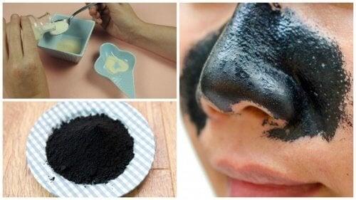 Recette de pâte adhésive pour éliminer les points noirs du nez