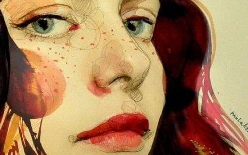 illustration - visage de femme