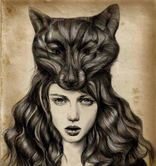 femme peau de loup