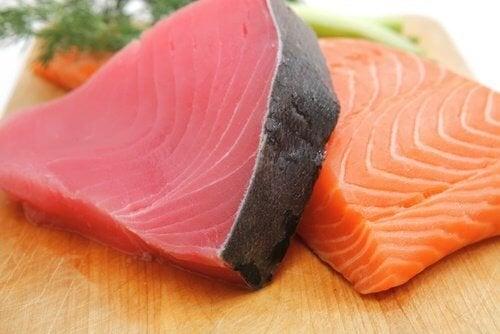 Le poisson bleu pour le métabolisme lent.