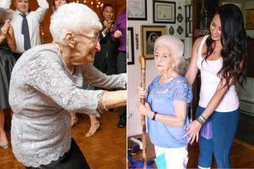 Une femme de 87 ans a changé sa posture et sa vie grâce au yoga !