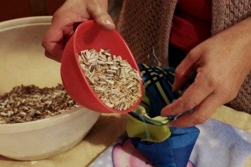 sachets de graines pour calmer les douleurs
