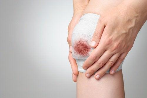 blessure au genoux